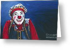 Giggles The Clown Greeting Card