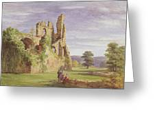 Gight Castle, 1851 Greeting Card