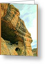 Gila Cliff Dwellings Looking Up Greeting Card