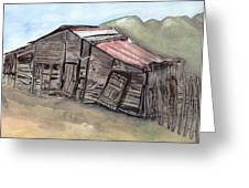 Gila New Mexico Cattle Barn Greeting Card