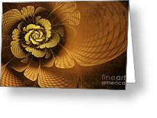 Gilded Flower Greeting Card by John Edwards