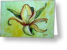 Gilded Lily Greeting Card