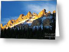 Gilded Ridge Greeting Card