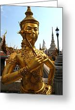 Gilded Statue Of A God At The Grand Greeting Card