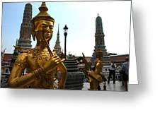 Gilded Statues Of Gods At The Grand Greeting Card