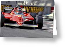 Gilles At Long Beach Greeting Card by Mike Flynn