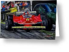 Gilles Villeneuve At The Limit Greeting Card