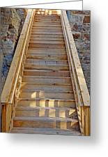 Gilpin County Museum Stairs Greeting Card