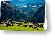 Gimmelwald In Swiss Alps - Switzerland Greeting Card