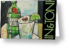 Gin And Tonic Poster Greeting Card