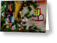 Ginger Ale On Christmas Tree 4392 Greeting Card