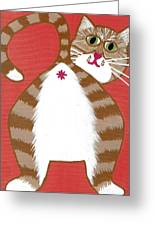 Ginger Cat Butt Greeting Card