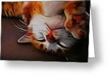 Ginger Feline Greeting Card