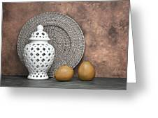 Ginger Jar With Pears I Greeting Card by Tom Mc Nemar