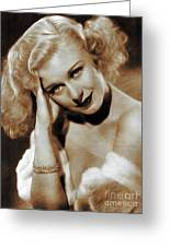 Ginger Rogers, Actress Greeting Card