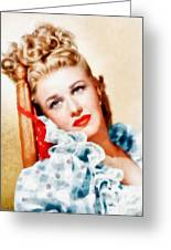 Ginger Rogers By John Springfield Greeting Card