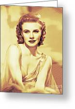 Ginger Rogers, Hollywood Legends Greeting Card