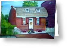 Gingerbread House Greeting Card by Sheila Mashaw