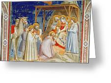 Giotto: Adoration Greeting Card by Granger