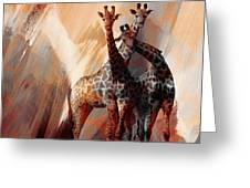 Giraffe Abstract Art 002 Greeting Card