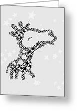 Giraffe Black Star Greeting Card
