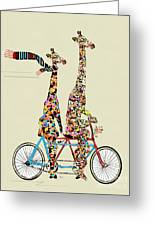 Giraffe Days Lets Tandem Greeting Card