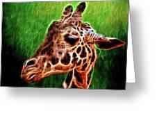 Giraffe Fractal Greeting Card