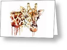 Giraffe Head Greeting Card