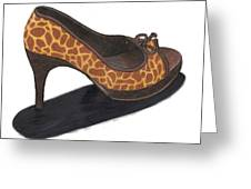 Giraffe Heels Greeting Card