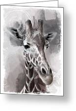 Giraffe No 01 Greeting Card