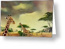 Giraffes At Thabazimba Greeting Card