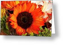 Girasol Naranja Greeting Card