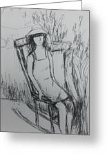 Girl At The Garden Greeting Card