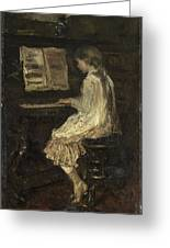 Girl At The Piano Greeting Card