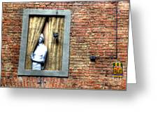 Girl At The Window Greeting Card