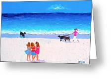 Girl Friends - Beach Painting Greeting Card