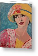 Girl From The Twenties Greeting Card