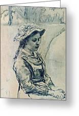 Girl Hell 1882 Ilya Repin Greeting Card