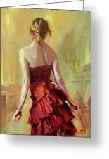 Girl In A Copper Dress I Greeting Card