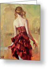 Girl In A Copper Dress II Greeting Card