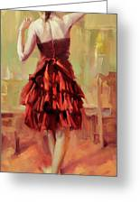 Girl In A Copper Dress IIi Greeting Card