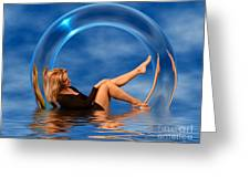 Girl In Glass Ring C150430 Greeting Card