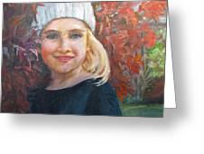 Girl In Late Fall Greeting Card