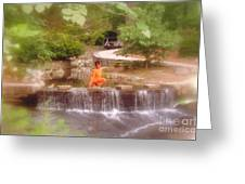 Girl In Orange Greeting Card