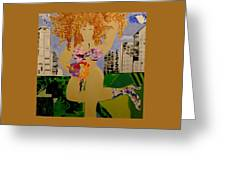 Girl In The City Greeting Card