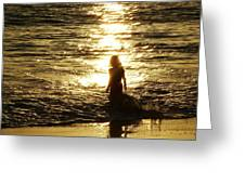 Girl In The Light Greeting Card