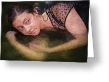 Girl In The Pool 13 Greeting Card