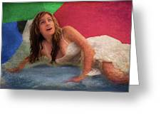 Girl In The Pool 3 Greeting Card