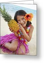 Girl In Tropical Paradise Greeting Card by Brandon Tabiolo - Printscapes