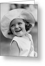 Girl In Wide Brimmed Hat, C.1930s Greeting Card
